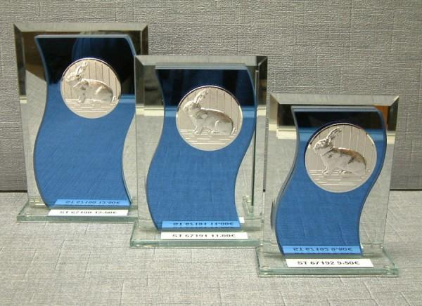 3-er Serie Spiegelglasständer - Stärke 6 mm ST 67190-ST 67192
