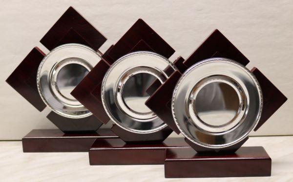 3-er Serie Holzständer FS 128-41-43T mit Metallteller