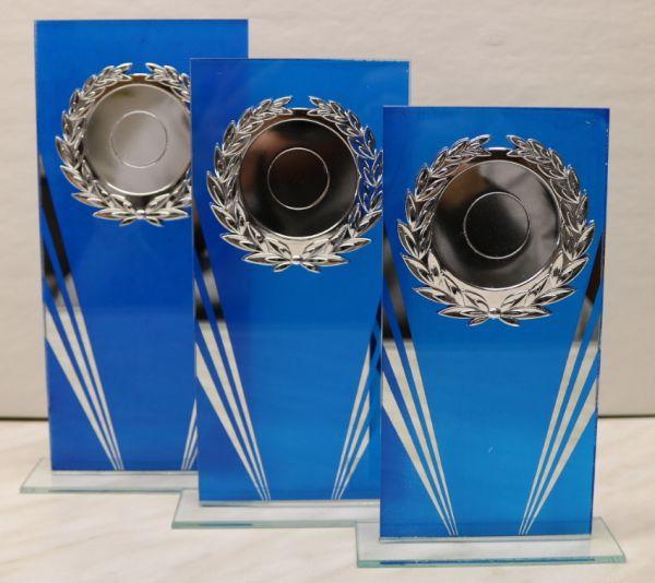 3-er Serie Glasständer - blau FS 122-31-33