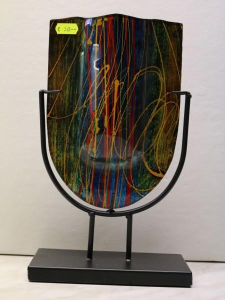 dekorativer Glaspokal auf Metallständer FS 8873