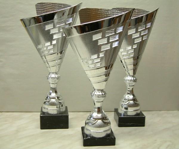 Moderner Pokal aus Kunststoff - Silber RE A303.1-RE A303.3