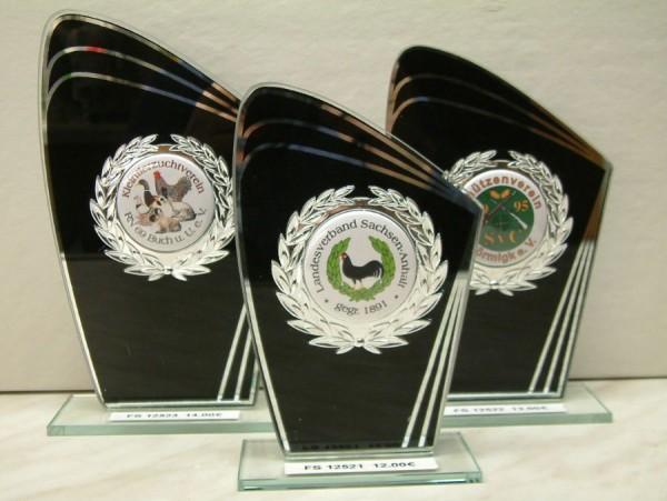 3-er Serie Glasständer - schwarz FS 12521-FS 12523