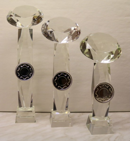 3-er Serien Kristalltower mit Glasdiamant ST 58211-ST58926