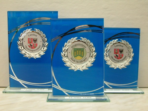 3-er Serie Glasständer - blau FS 12541-FS 12543