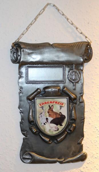 Metallehrentafel an Kette ST 1551W